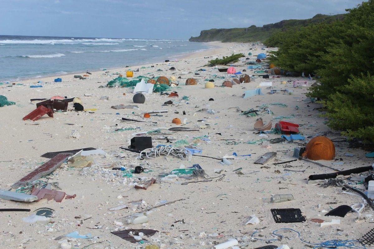 Остров расположен так, что течение приносит к нему мусор из Южной Америки / фото Jennifer Lavers