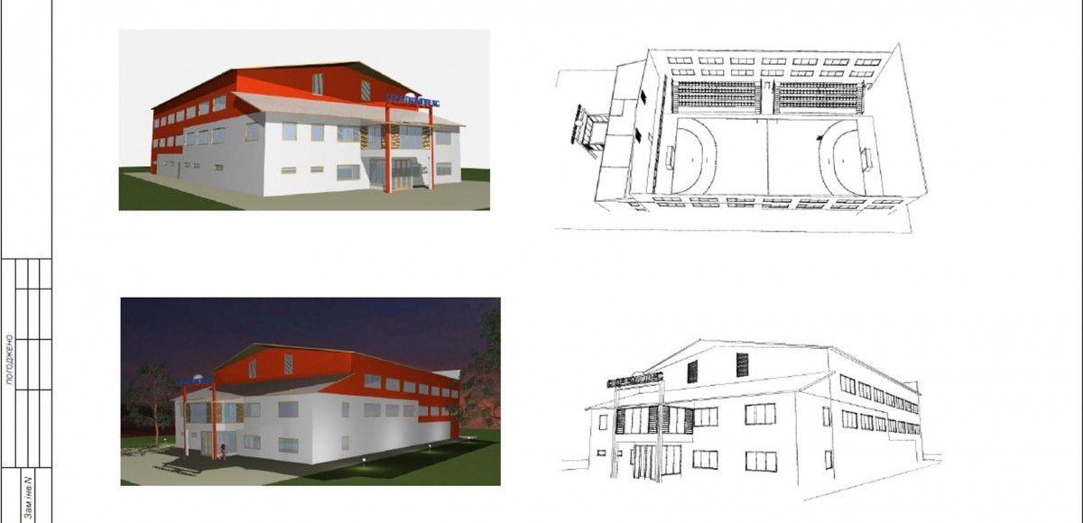 Мультиспортивний зал у Збаражі планують обладнати трибунами, яких більшість ігрових залів і майданчиків не мають