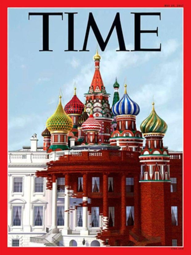 На обложке также есть и храм Василия Блаженного / twitter.com/TIME?lang=ru