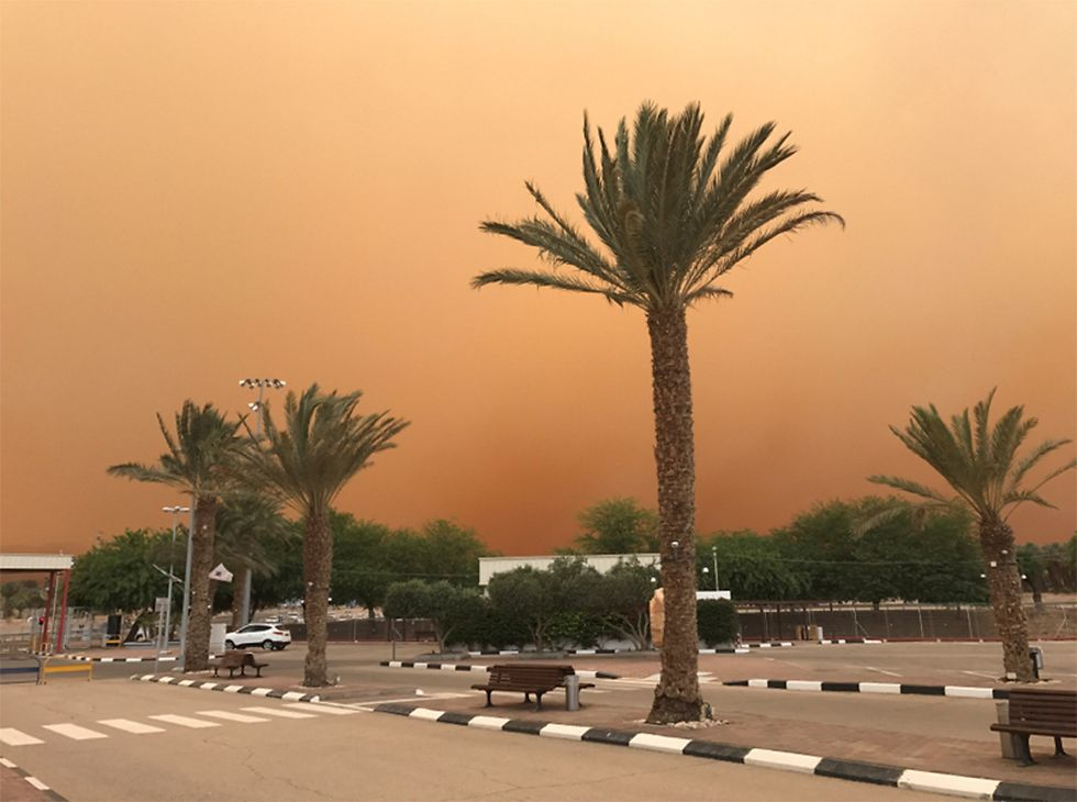Піщана буря в Ізраїлі / Ясмін Даан, vesty.co.il