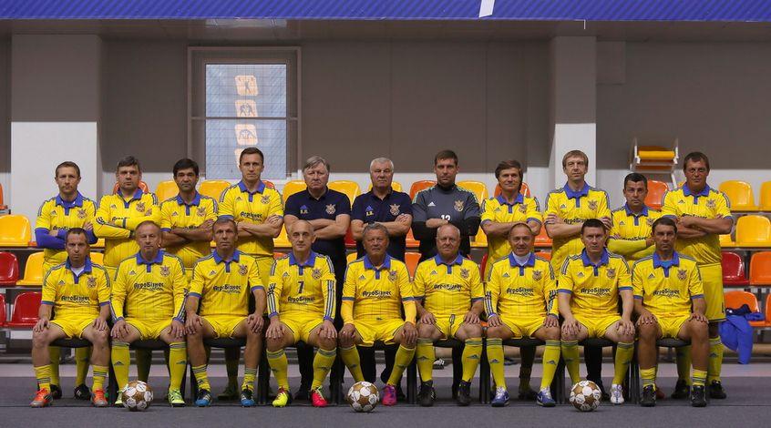 Сборная Украины среди ветеранов в субботу проведет матч на