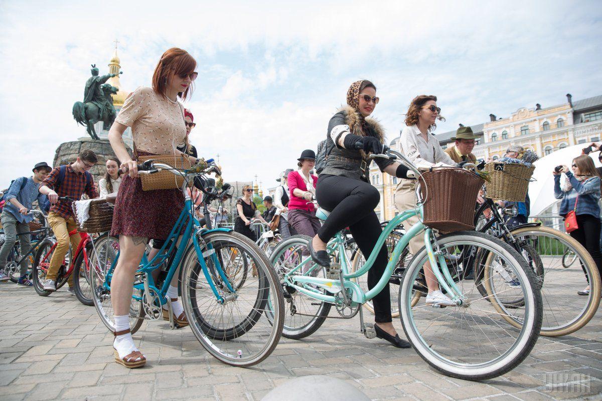 Один из предыдущих велопарадов в Киеве / Фото УНИАН