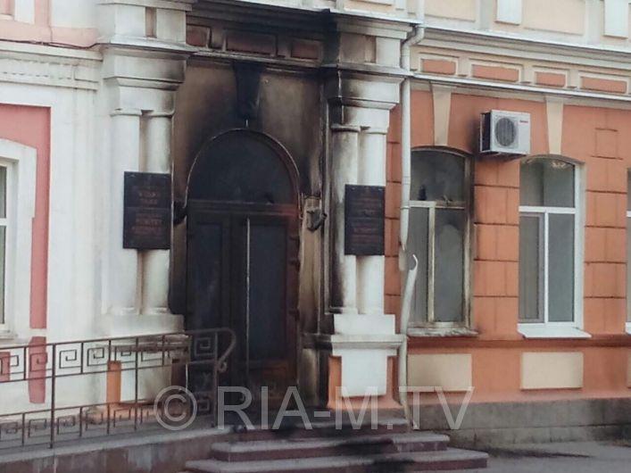 Мелітопольську міськраду вночі закидали