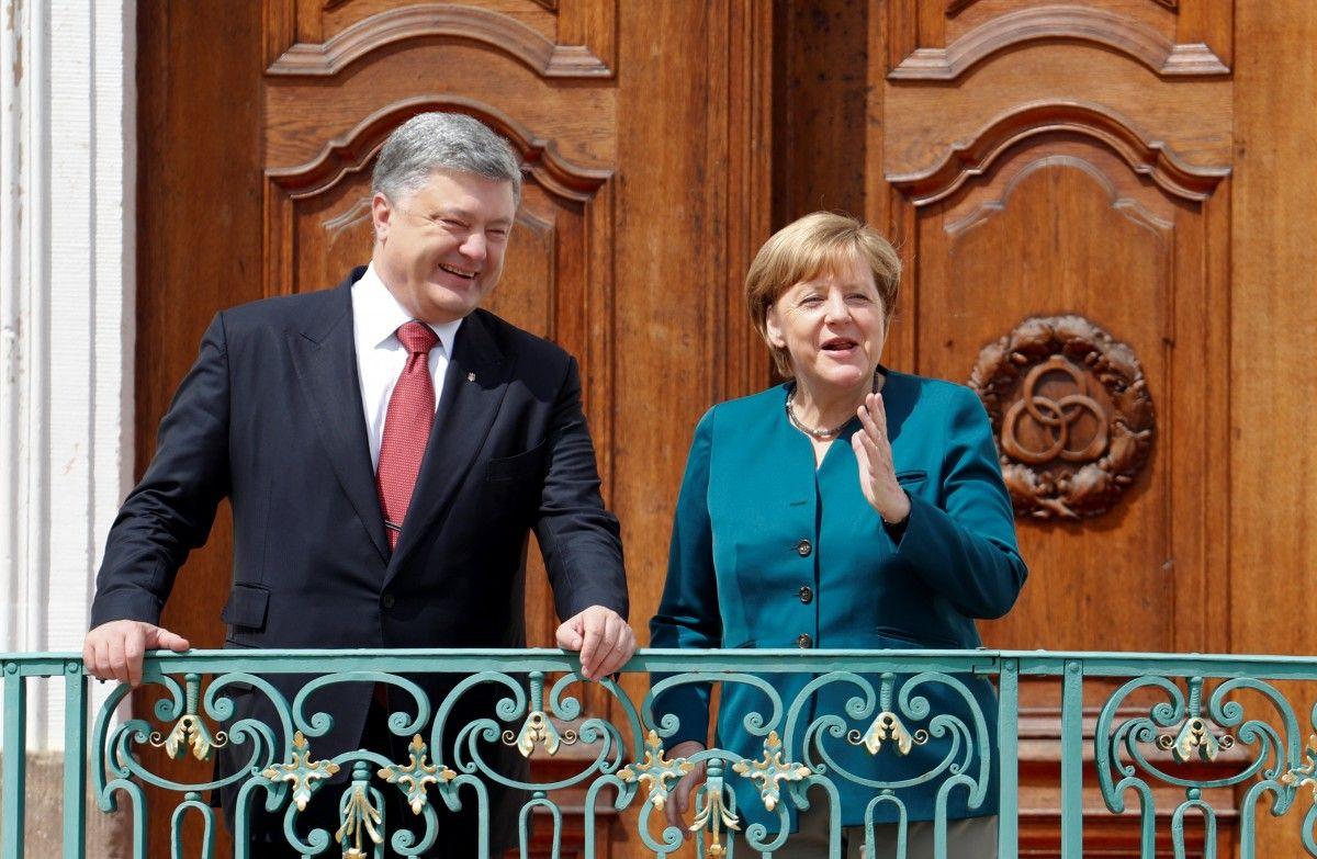 Как Меркель встречала Порошенко в старинном замке Месеберг