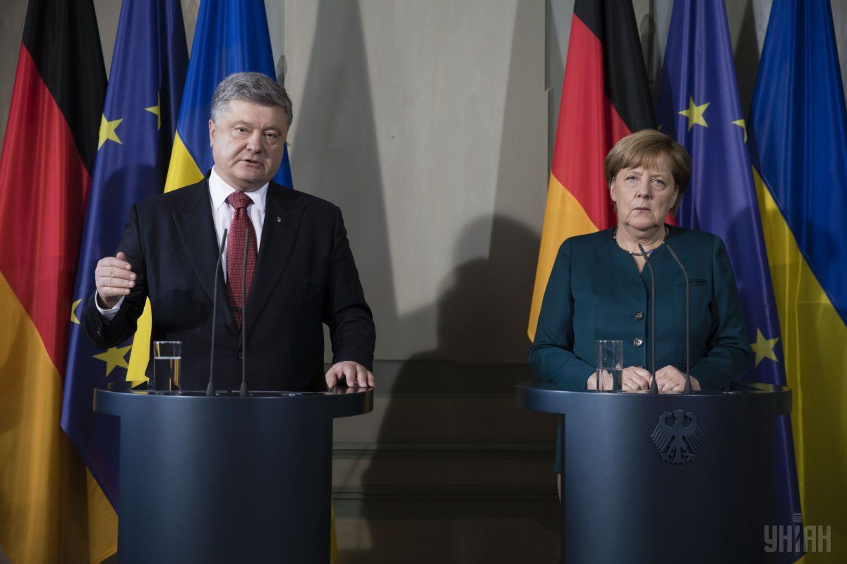 Порошенко сьогодні зустрівся з Меркель / фото УНІАН