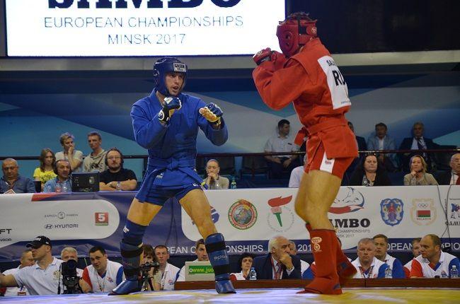 Збірна України з самбо завоювала ще сім медалей на чемпіонаті Європи у Мінську