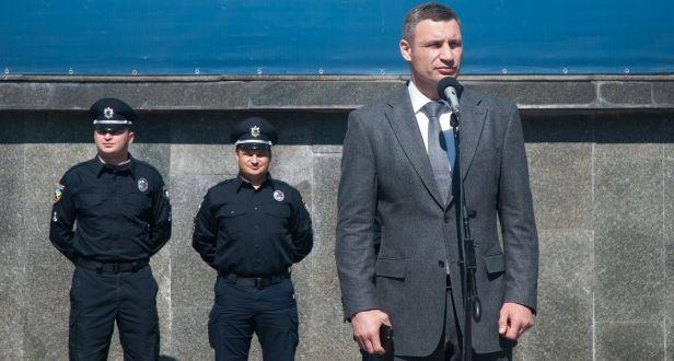 Кличко запевнив патрульних у підтримці / Фото kievcity.gov.ua