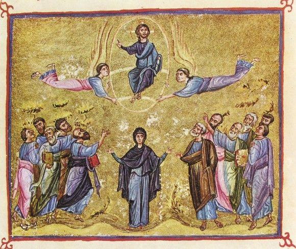 Миниатюра Евангелиария (Athos Dionisiou 587). Византия. XI в. Монастырь Дионисиат, Афон
