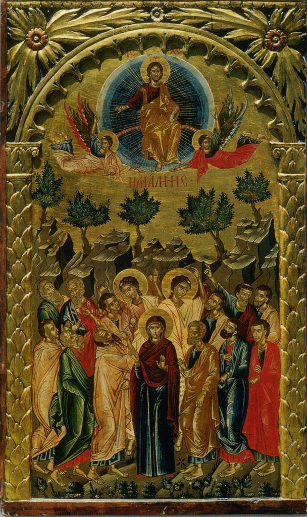 Вознесение Господне. Икона XVI в. мон. Филофей, Афон