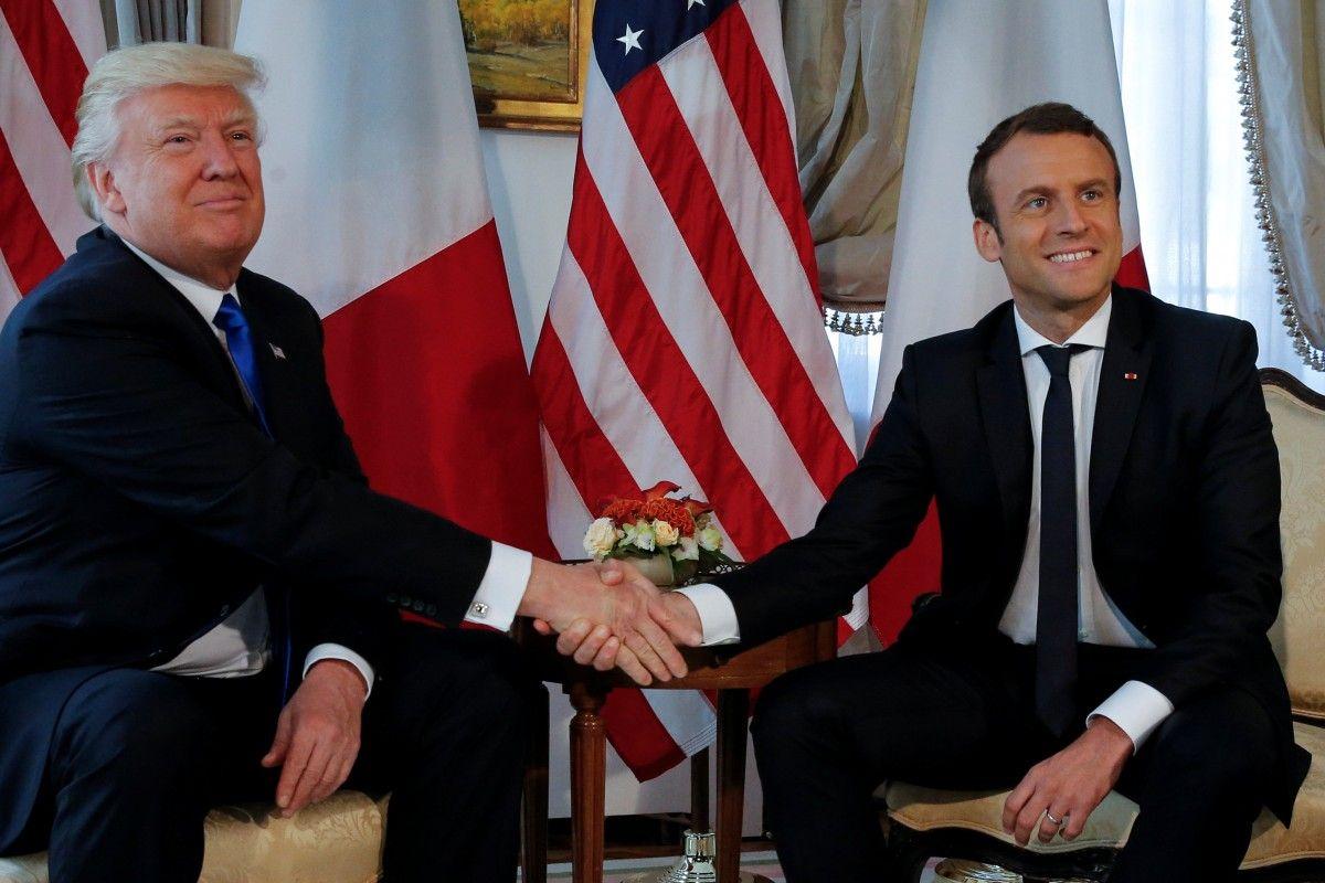 Дональд Трамп и Эмануэль Макрон / REUTERS