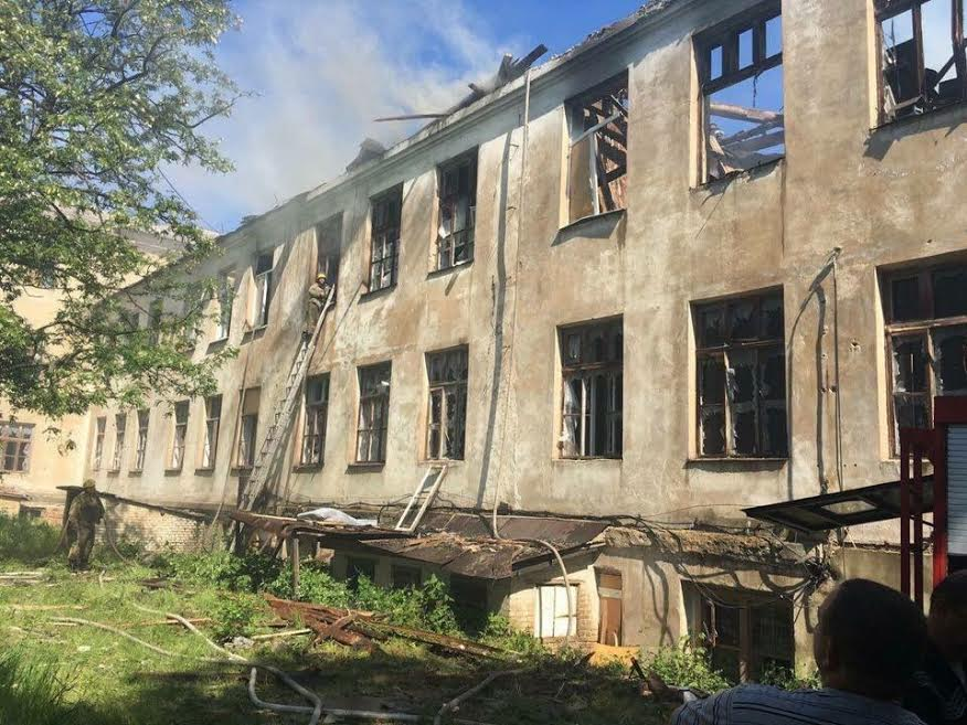 Damaged facilities in Krasnohorivka / Photo from People's Front
