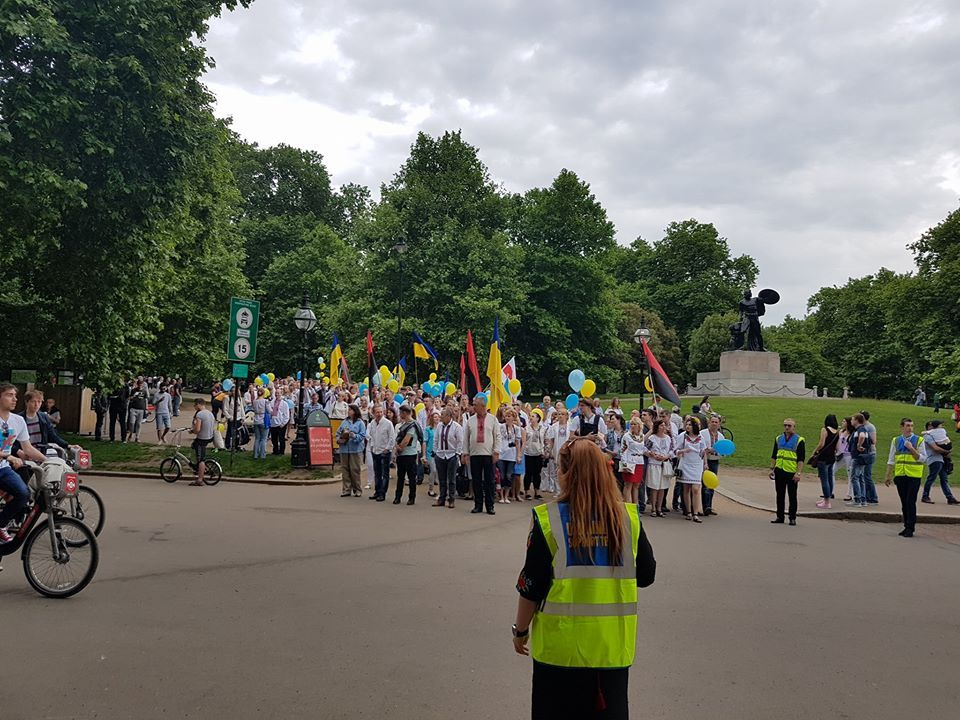 Over 1,000 Ukrainians took part in the event / Photo from Embassy of Ukraine to the UK