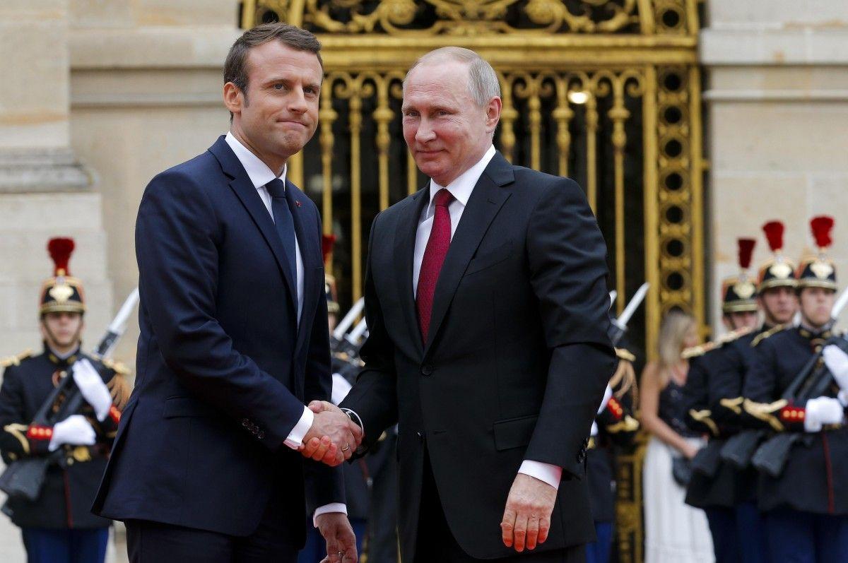 Макрон и Путина/ фото REUTERS