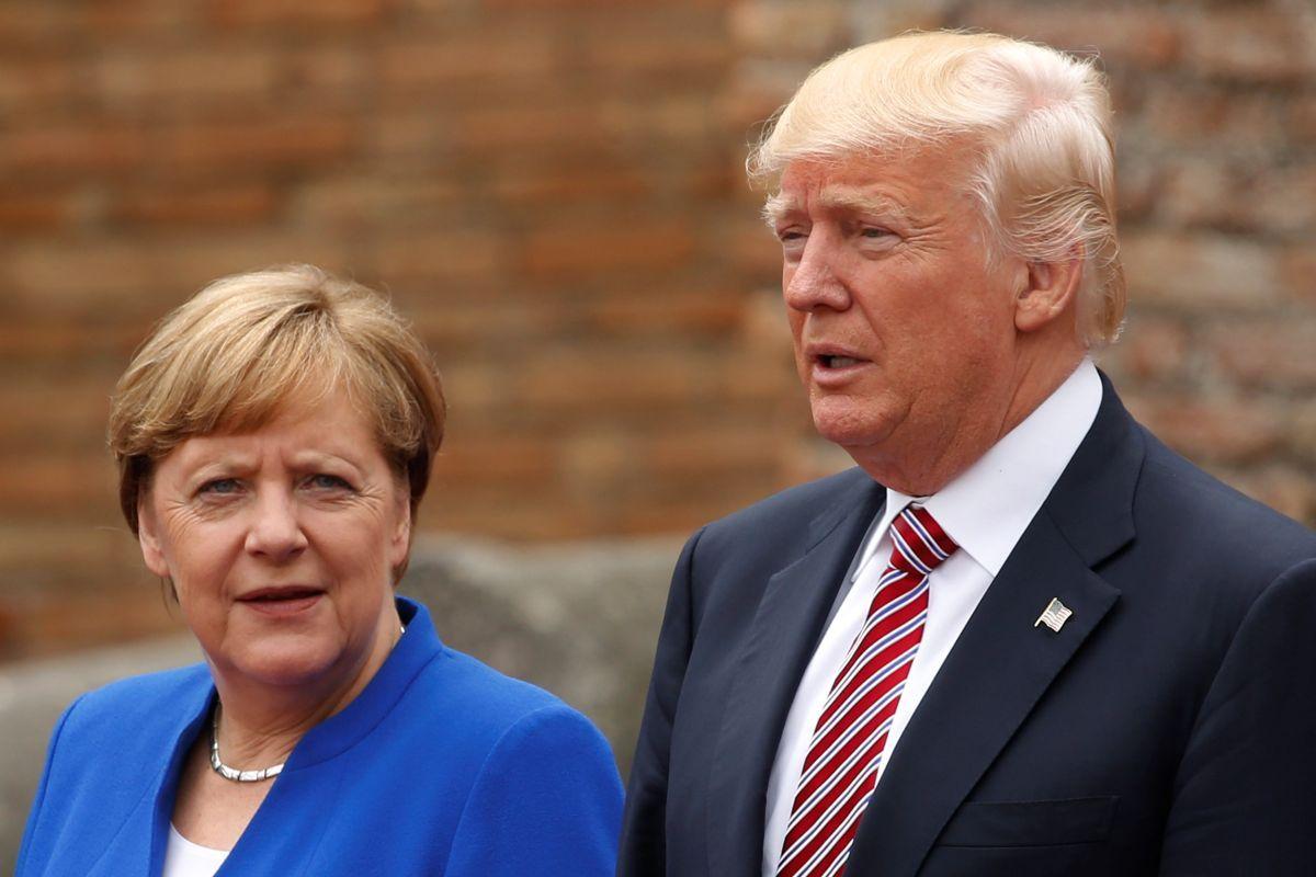 Ангела Меркель и Дональд Трамп / REUTERS