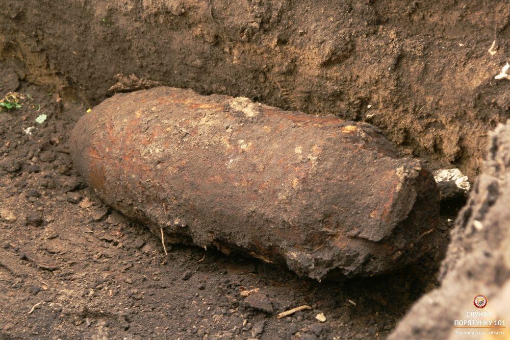 Роботи зі знешкодження бомби розпочнуться сьогодні / Фото Управління ДСНС України у Тернопільській області
