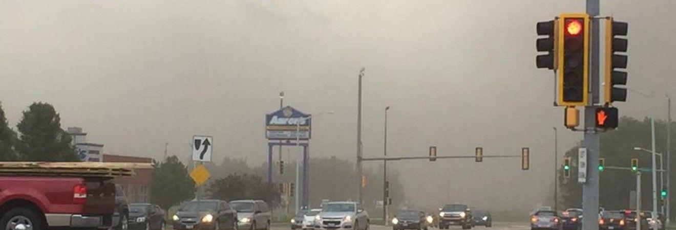 Пыльные бури привели к многочисленным ДТП в Иллинойсе (видео)