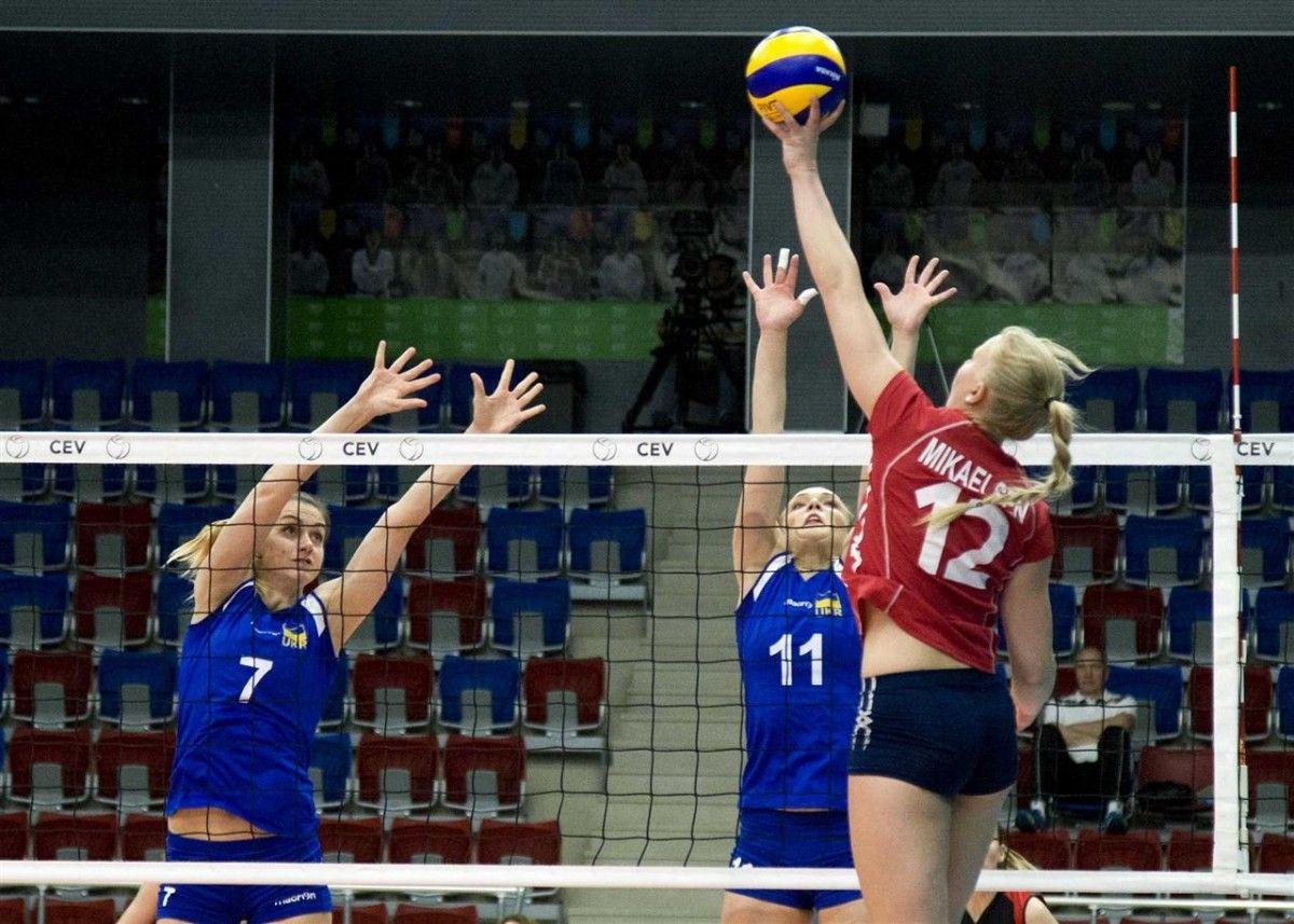 Украинки обыграли норвежек в матче отбора ЧМ / cev.lu