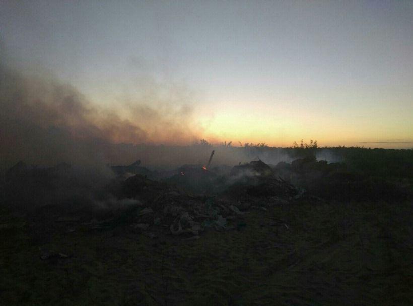 Под Киевом вспыхнул масштабный пожар насвалке