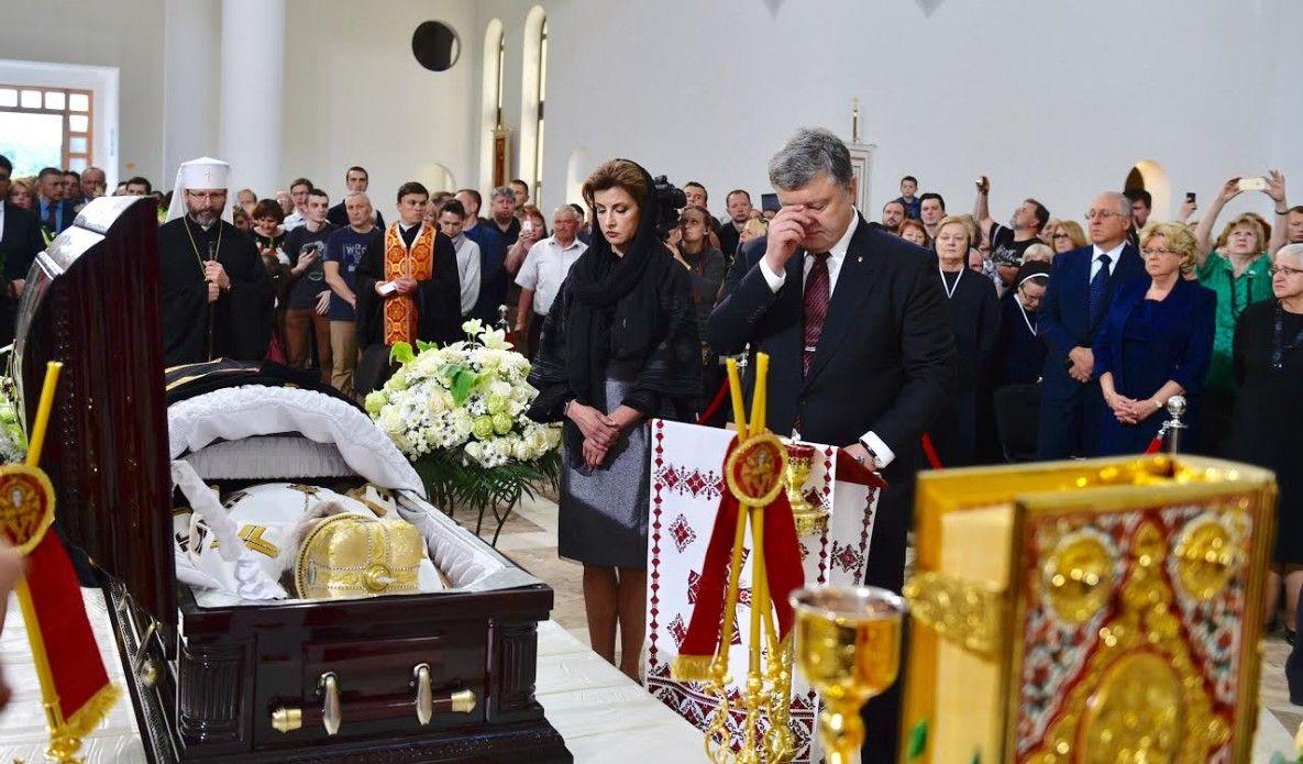 Президентская чета попрощалось с Любомиром Гузаром / фото president.gov.ua