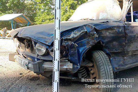 У ДТП зіштовхнулися 2 автомобілі / Фото відділі комунікації ГУНП Тернопільської області