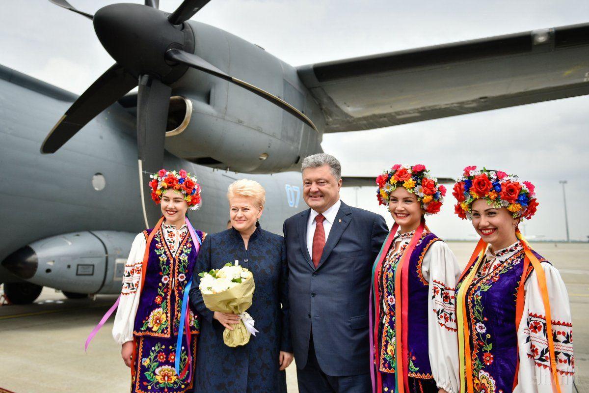 Lithuanian President Dalia Grybauskait visited Kharkiv / Photo from UNIAN