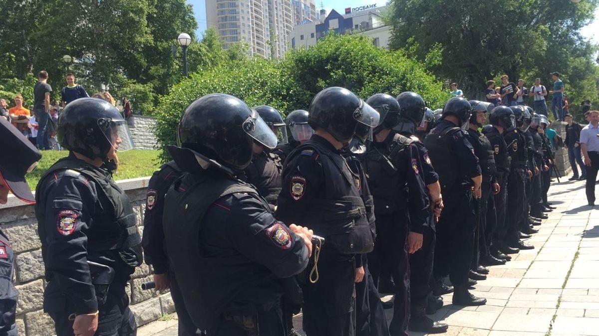 В РФ начались задержания на митингах / фото newsvl.ru