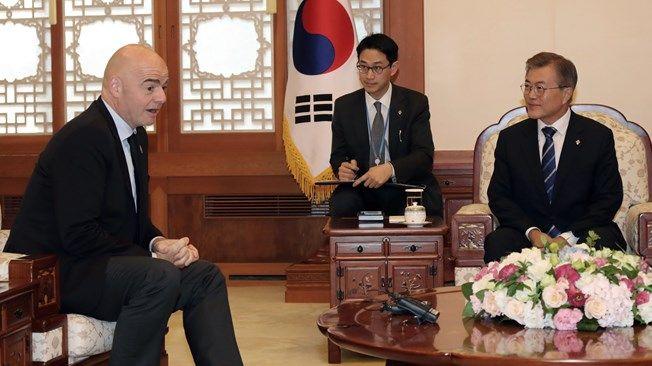 Президент Южной Кореи выступил за проведение объединенного турнира с КНДР / fifa.com
