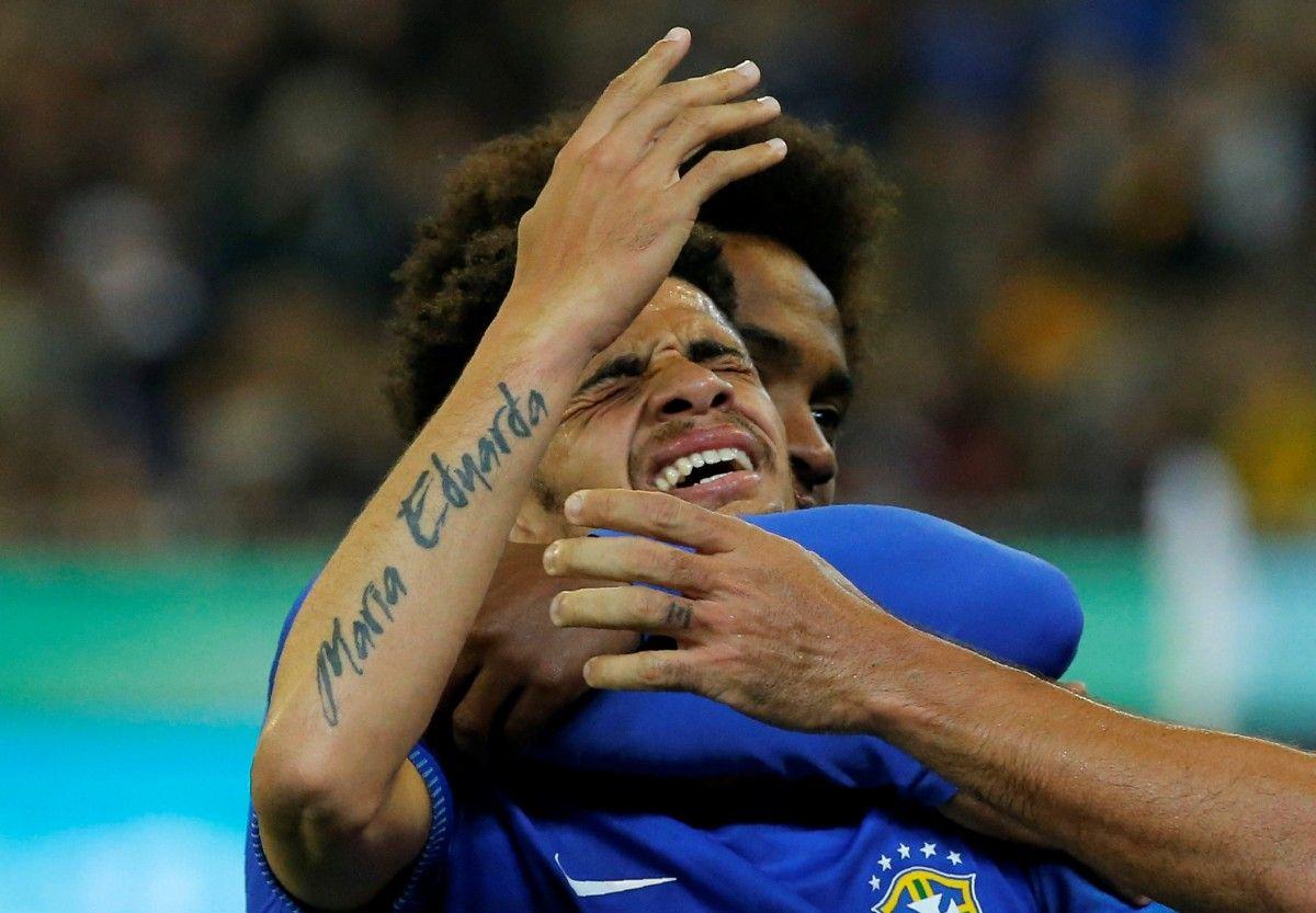 Тайсон эмоционально отреагировал на свой дебютный гол за сборную / Reuters