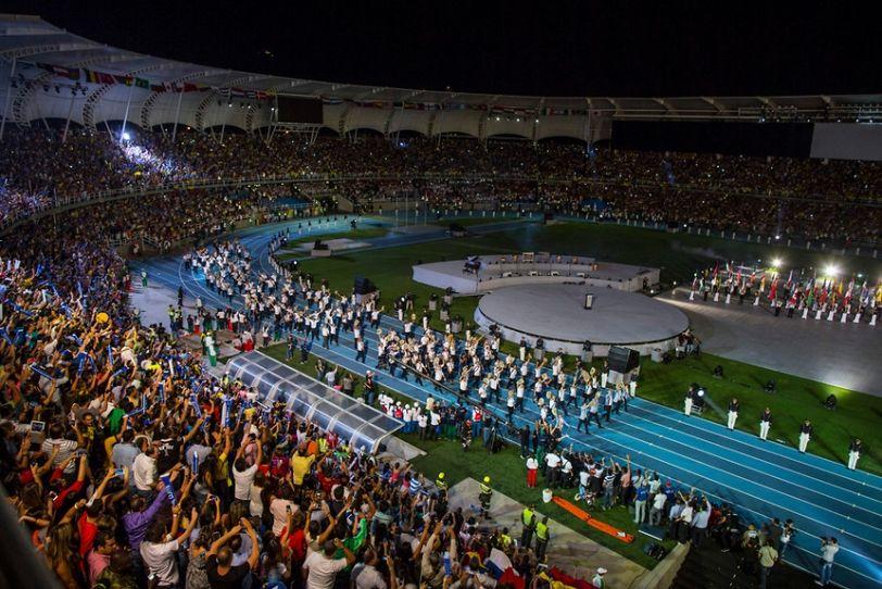 Церемония открытия прошлых, 9-х Всемирных Игр в Колумбии / ikf.org