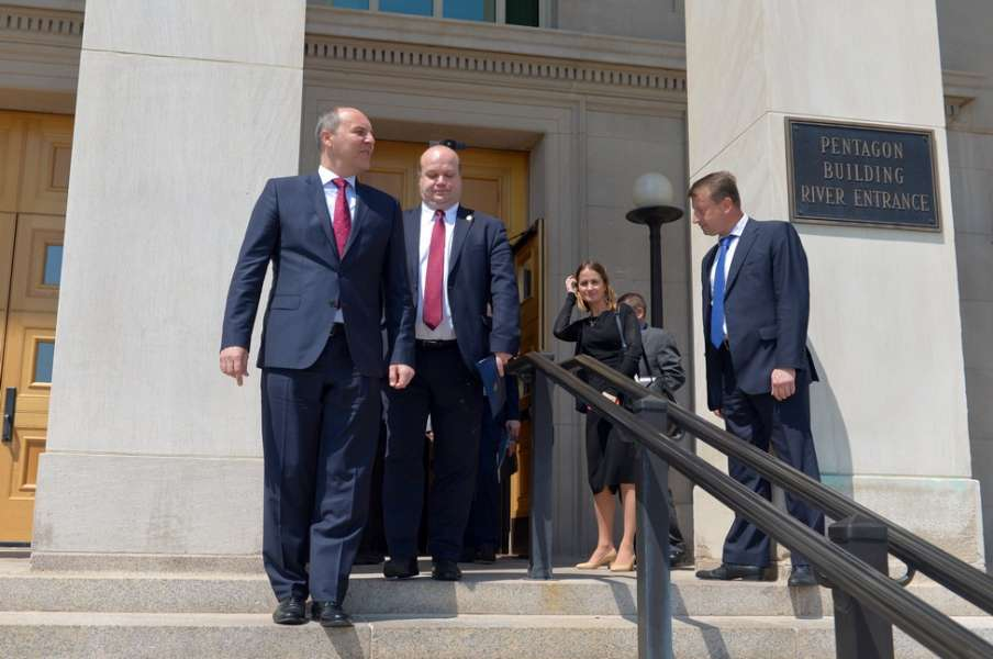 Parubiy is on an official visit to the United States / Photo from rada.gov.ua