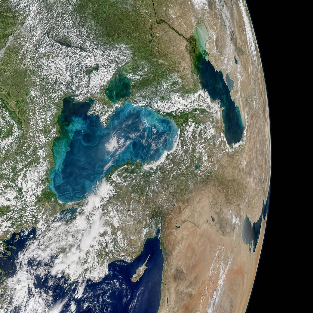 NASA опубликовало фотографию Черного моря / nasa.gov