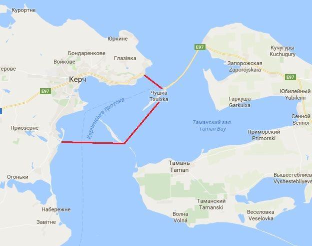 Россия готовит закрытие Керченского пролива / фото ЦТС