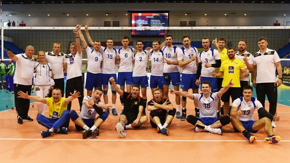 Сборная Украины заняла первое место в своей группе Евролиги / cev.lu