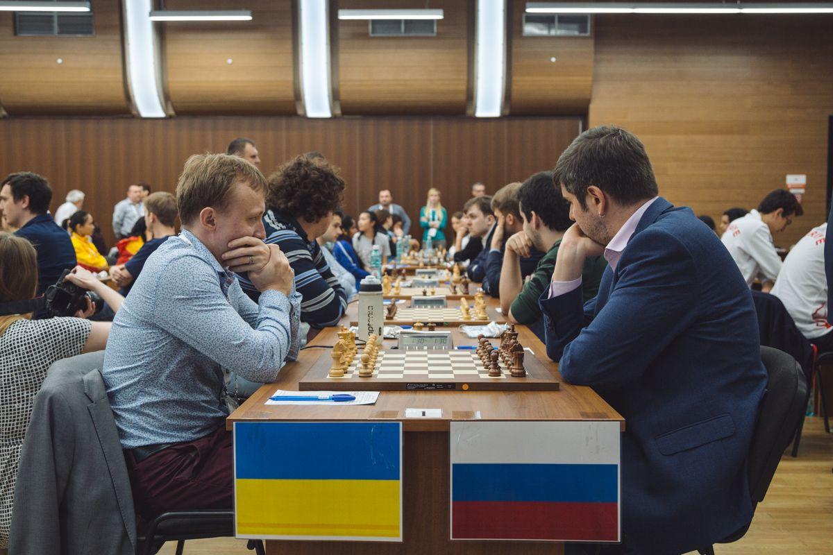 Украинцы в 3-м туре сыграли с россиянами / ugra2017.fide.com