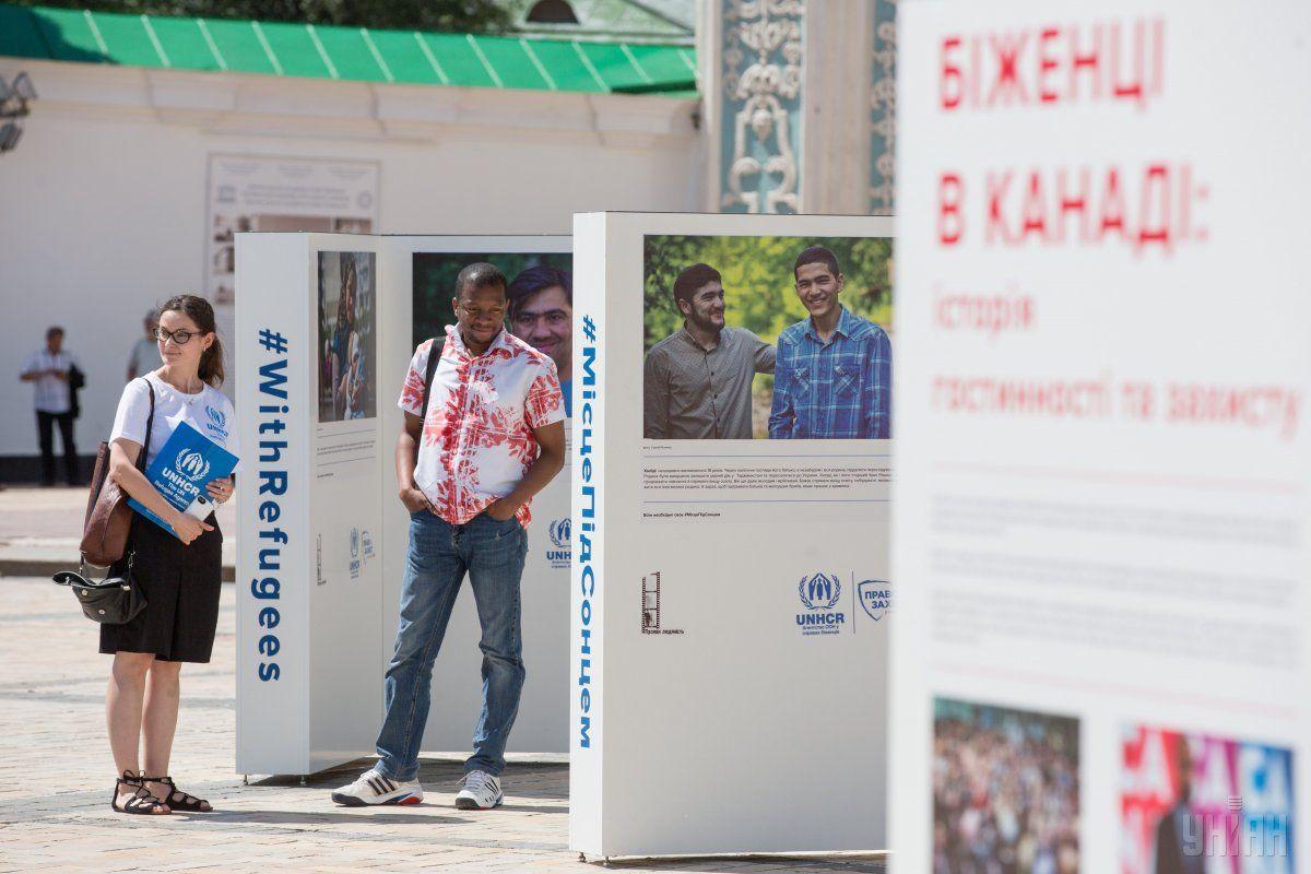 У Києві відкрилась фотовиставка з нагоди Міжнародного дня біженця