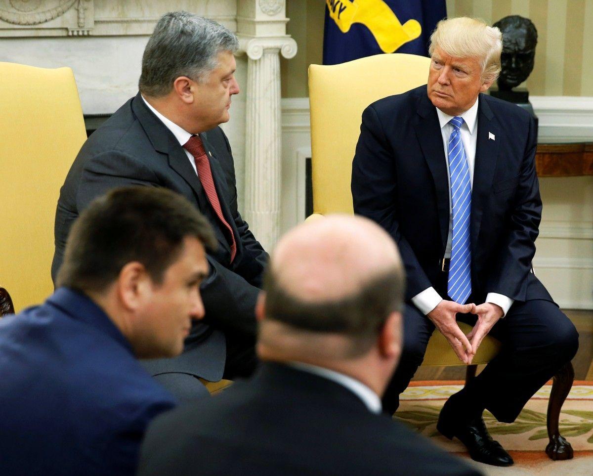 Трамп поручил расширить военно-техническое сотрудничество между США и Украиной - Порошенко