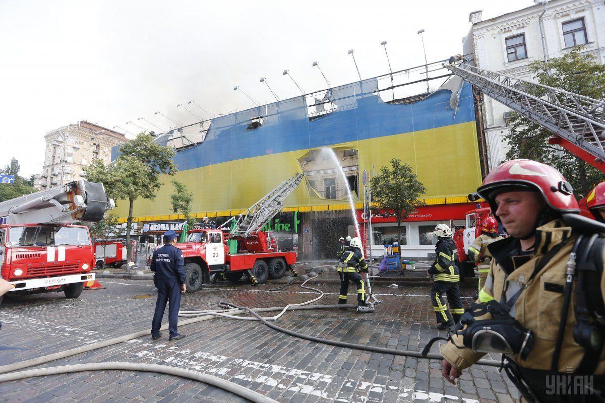 После пожара наКрещатике зданию угрожает разрушение