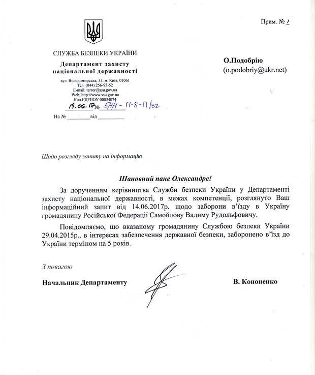 Вадиму Самойлову из«Агаты Кристи» запретили заезд на Украинское государство