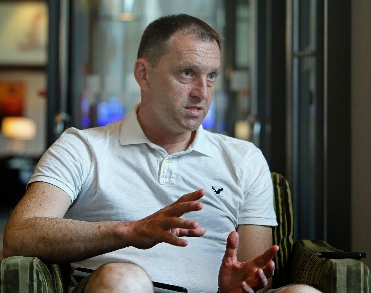 Командир литовских добровольцев Артурас Янискас / Фото УНИАН