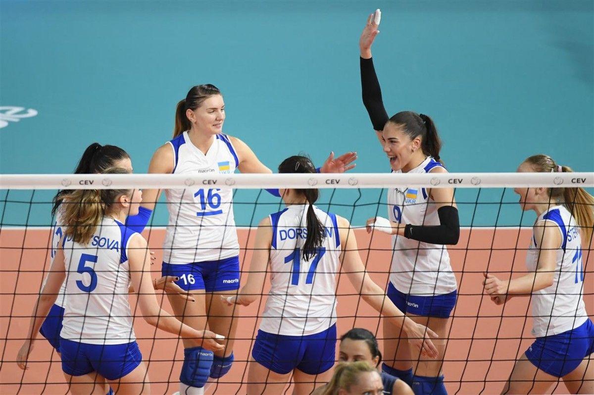 сборная Украины вошла в четверку сильнейших команд Евролиги