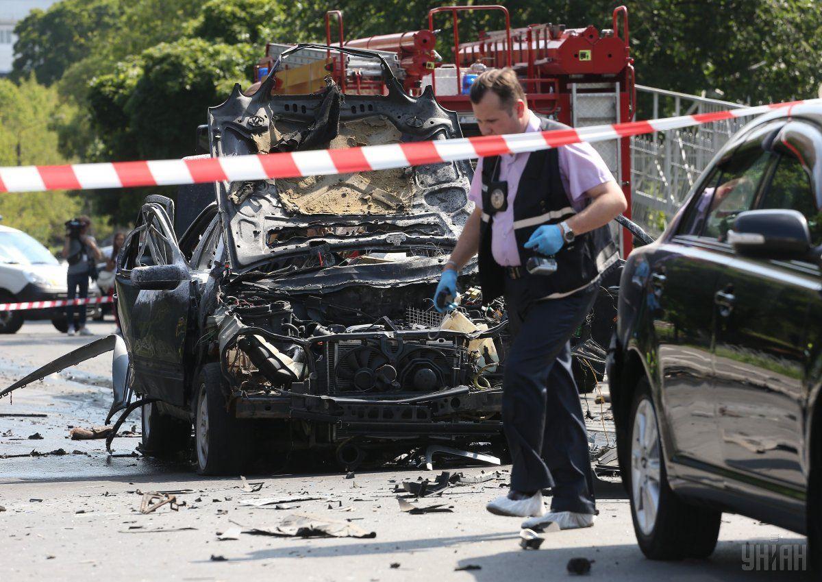 Машина полковника вибухнула / фото УНІАН