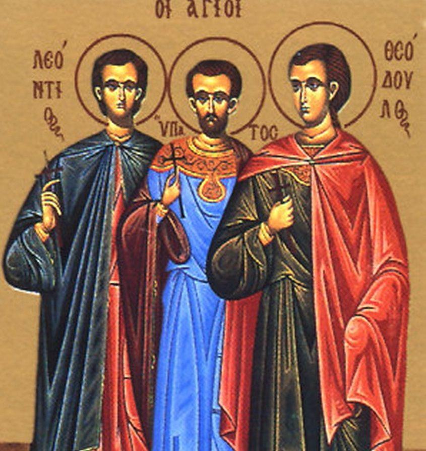 """Результат пошуку зображень за запитом """"Святих мучеників Мануїла, Савела та Ісмаїла"""""""