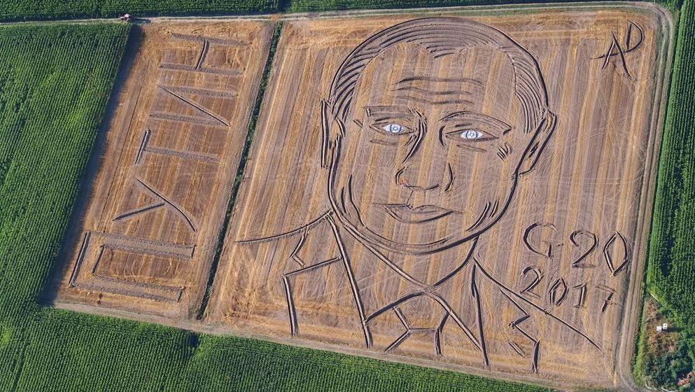 Портрет Путина на поле / фото twitter.com/ilcolonnello