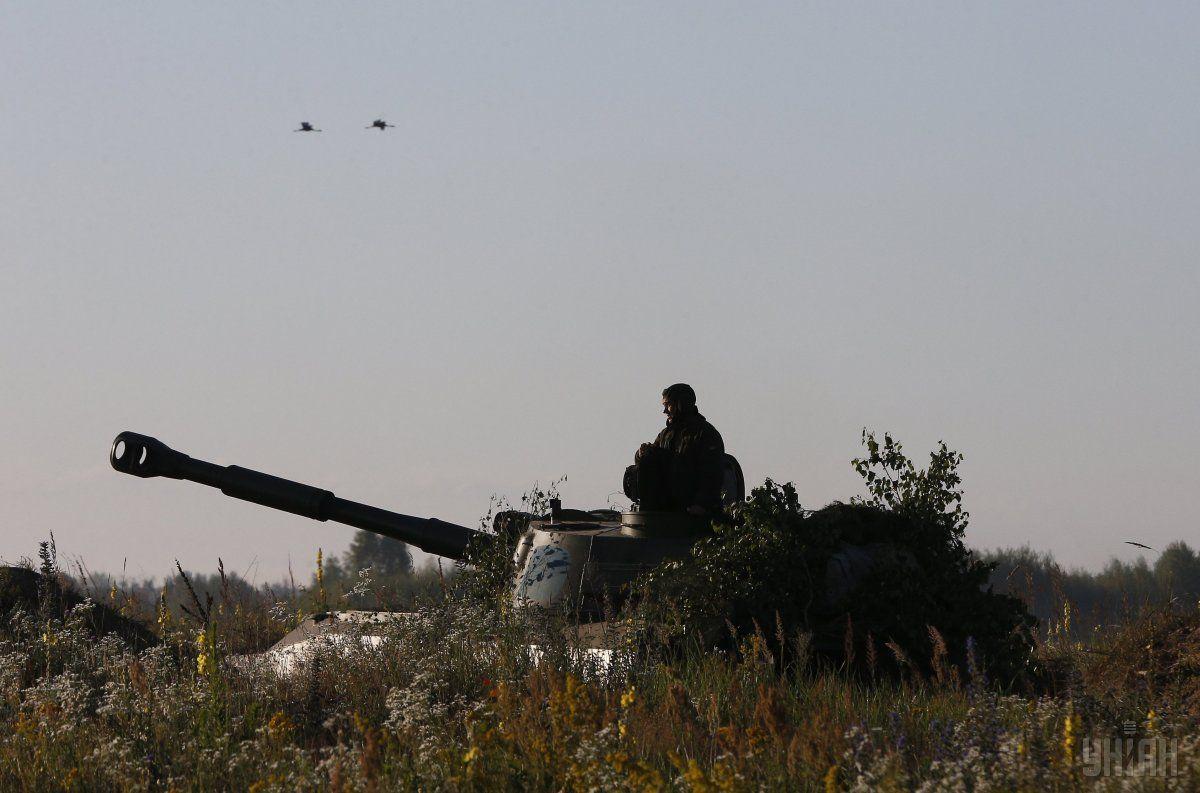 Боевики разместили на линии соприкосновения несколько гаубиц / Фото: УНИАН