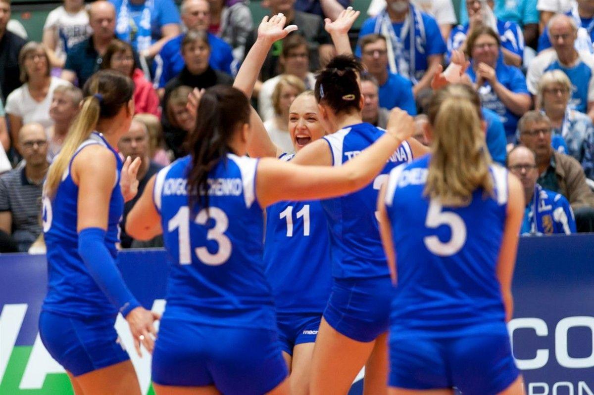 Сборная Украины по волейболу одержала победу в первом финальном матче Евролиги / cev.lu