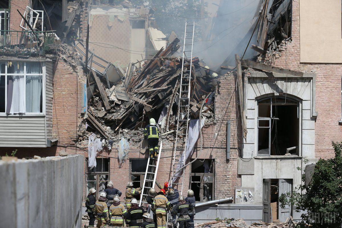 Взрыв газа вкиевском доме: первые кадры сместа трагедии