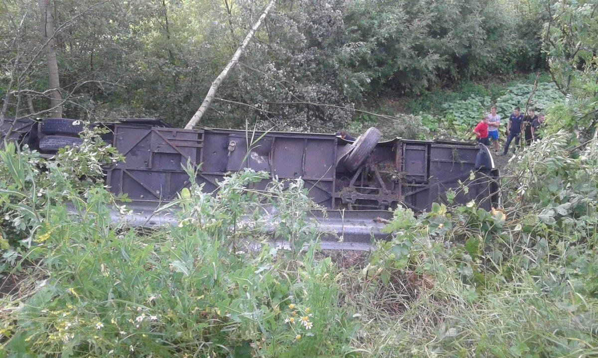 Автобус знесло з дороги / фото НТК