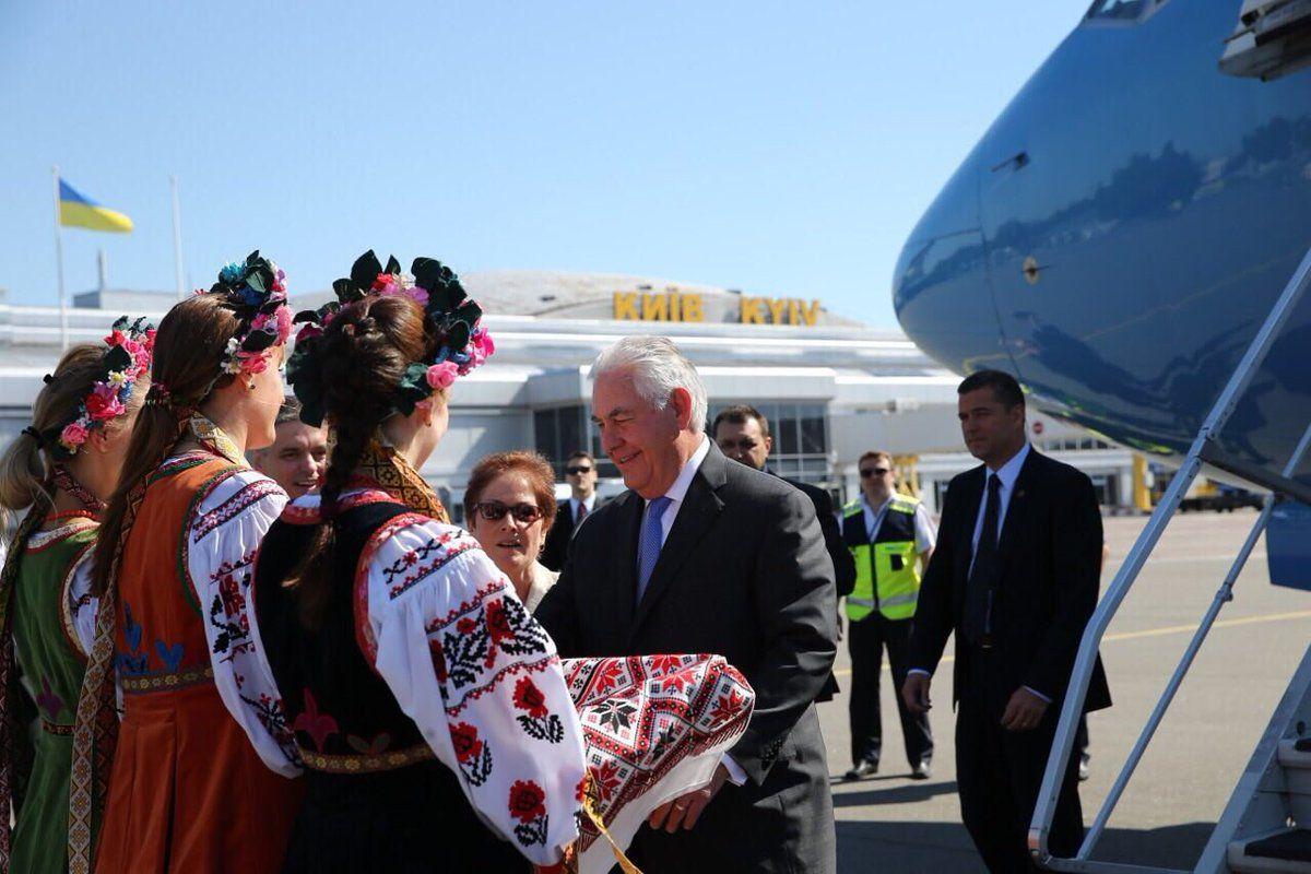 Тиллерсон прибыл в Киев / twitter.com/USEmbassyKyiv