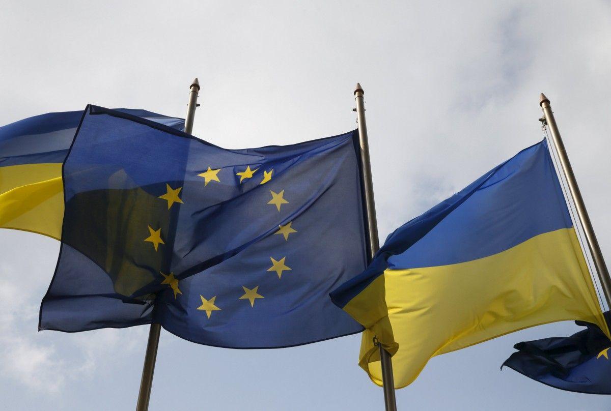 Прапори ЄС і України / Ілюстрація REUTERS