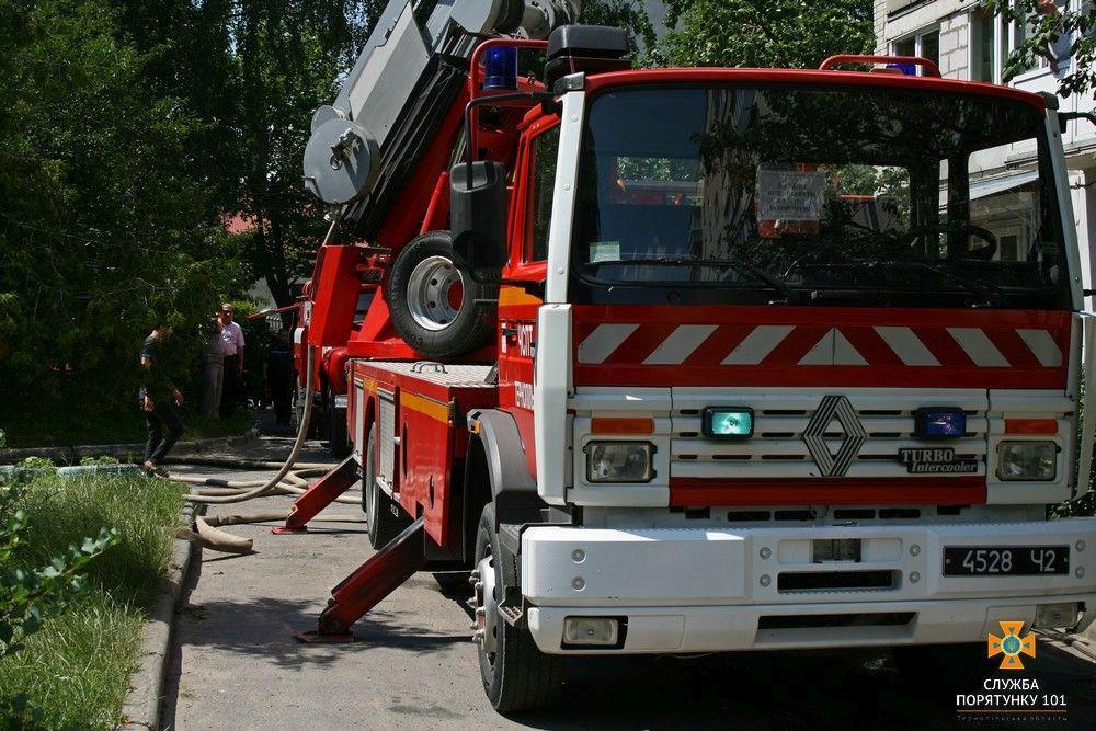 На виклик прибула автодрабина частини спеціальної пожежної техніки / фото ДСНС